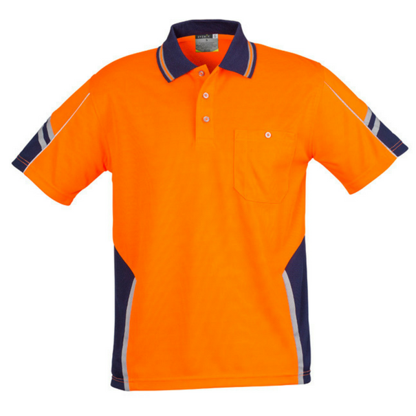 Mens Hi Vis Squad Short Sleeve Polo-zh237