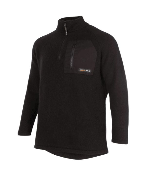 mens-possum-pullover-NZ-Endurance-MKM-Sweater. Colour: black Sizes: S - 2XL