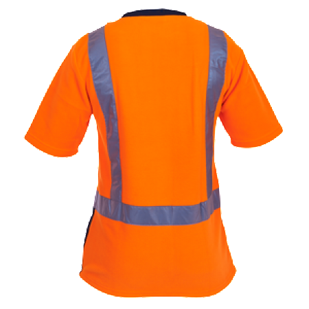 Hi Vis Day/Night Short Sleeve Polar Fleece T-shirt-pcf1015