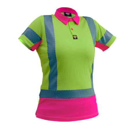 Caution-hi-vis-womens-microvent-polo-pcp1264