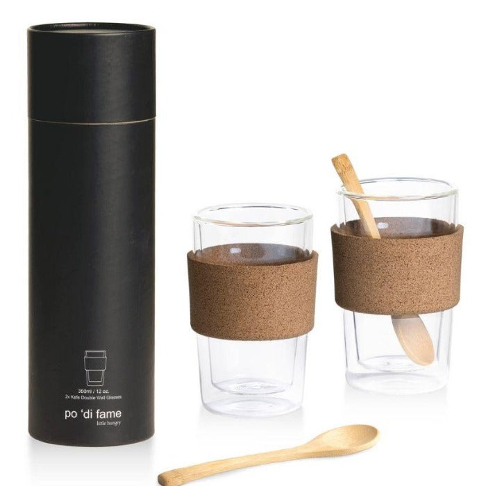 Kafe Double Walled Glass Cup Set - Po 'di fame