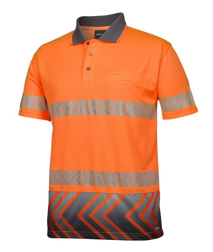 Hi Vis S/S Arrow Sub Polo with Segmented Tape