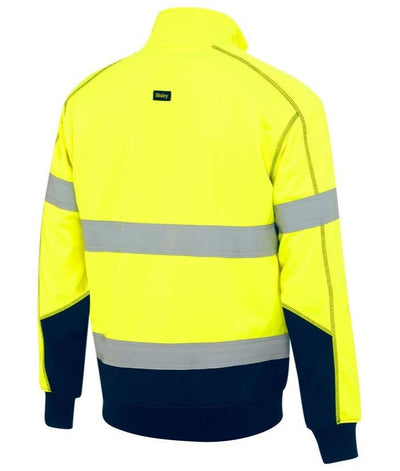 Taped Hi Vis Fleece Pullover with Sherpa Lining