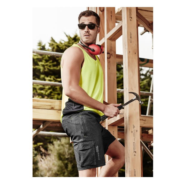 Mens Streetworx Stretch Work Board Short-zs240-syzmik