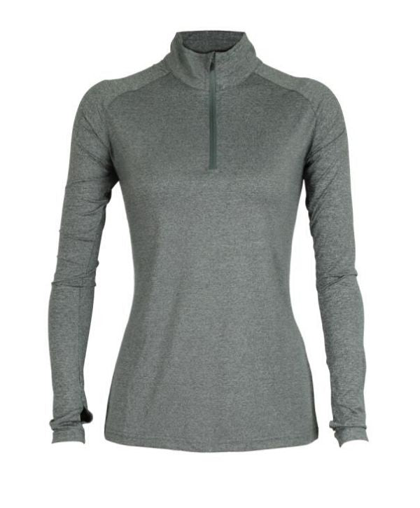 Warm-up tops NZ Womens Stadium 1/4 Zip Top. Code: SQM. COlours: Black, Navy, Marle Grey Sizes: 8 - 18