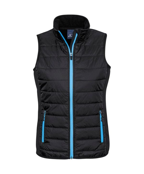 womens, ladies vests. Stealth Tech Vest Biz Collection Code-J616L. Colours Black/Magenta, Black/Green, Black/Red, Black/Silver, Black/Cyan Sizes-XS - 2XL