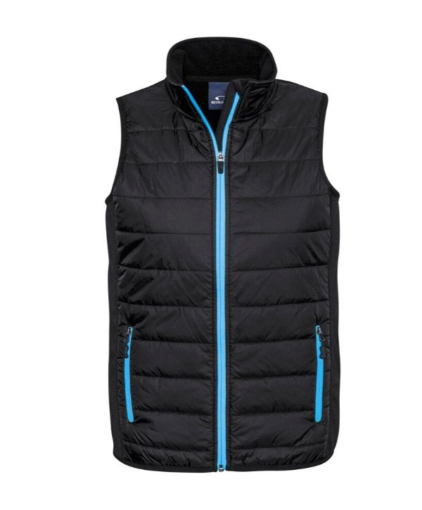 Mens puffer vests Stealth Mens Tech Vest. Biz Collection Code-J616M. Colours-Black/Silver, Black/Cyan, Black/Red, Black/Lime Sizes-S - 3XL , 5XL