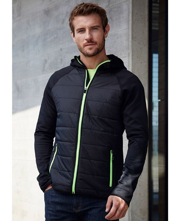 stealth-tech-puffer-hoodie-mens-black-cyan-jacket-uniform-activewear