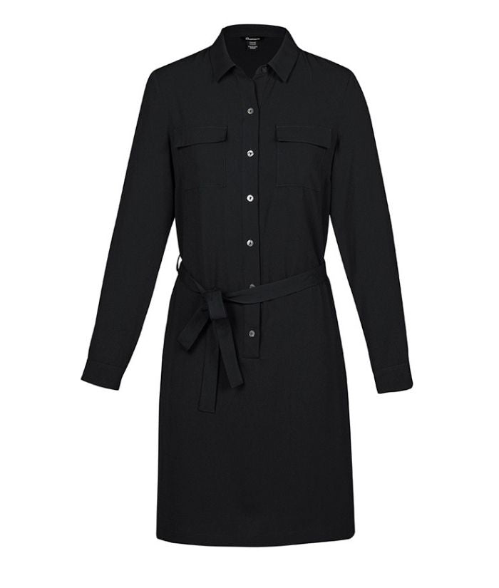 womens-georgette-chloe-shirt-dress-biz-corporate-workwear-uniform-casual-RD069L