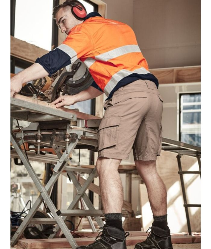 mens-streetworx-curved-back-shorts-uniform-workwear-builders-construction-plumbers-electricians
