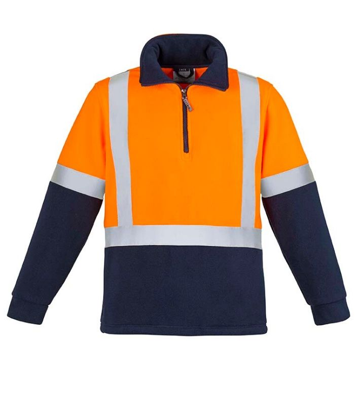 Unisex-womens-Mens-Hi-Vis-polar-Fleece-Jumper-Shoulder-H-Taped-zt462