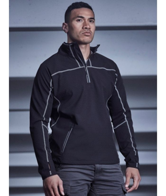 Mens Streetworx Stretch Mid-Layer Pullover