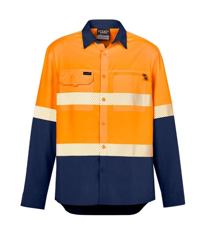 zw470-mens-outdoor-lightweight-hi-vis-segmented-tape-long-sleeve-shirt-orange-navy