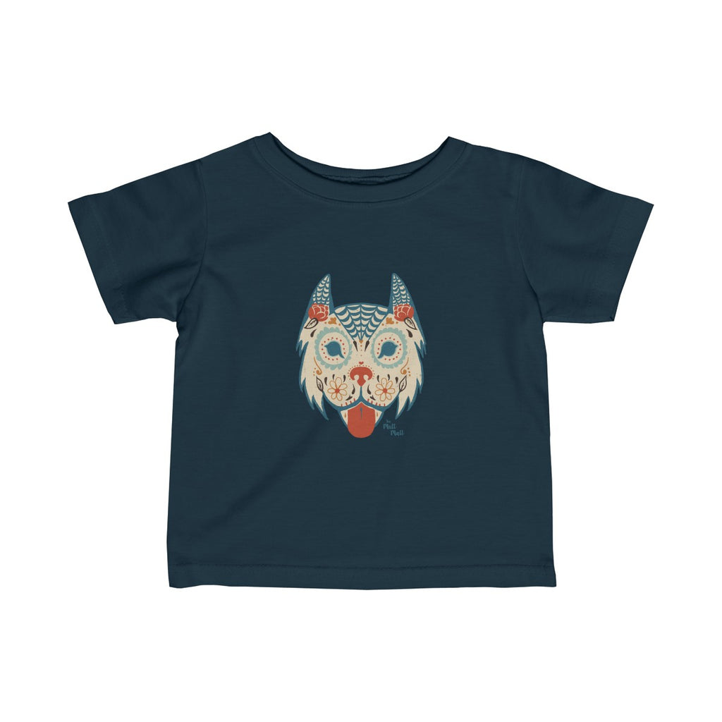Sugar Skull Dog Infant T-Shirt