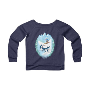 Winter Wonderland Women's Off The Shoulder Sweatshirt