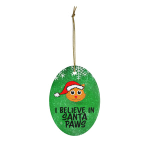 I Believe in Santa Paws Cat Ornament