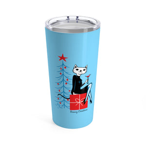 Meowy Christmas Travel Mug, 20oz