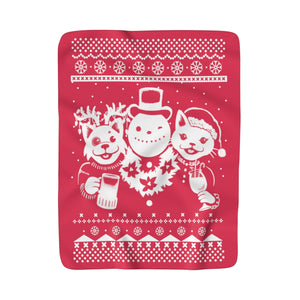 Party Animal Christmas Blanket