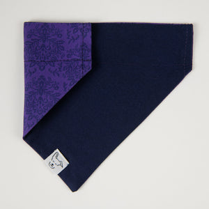 Dog Bandana, Purple Print