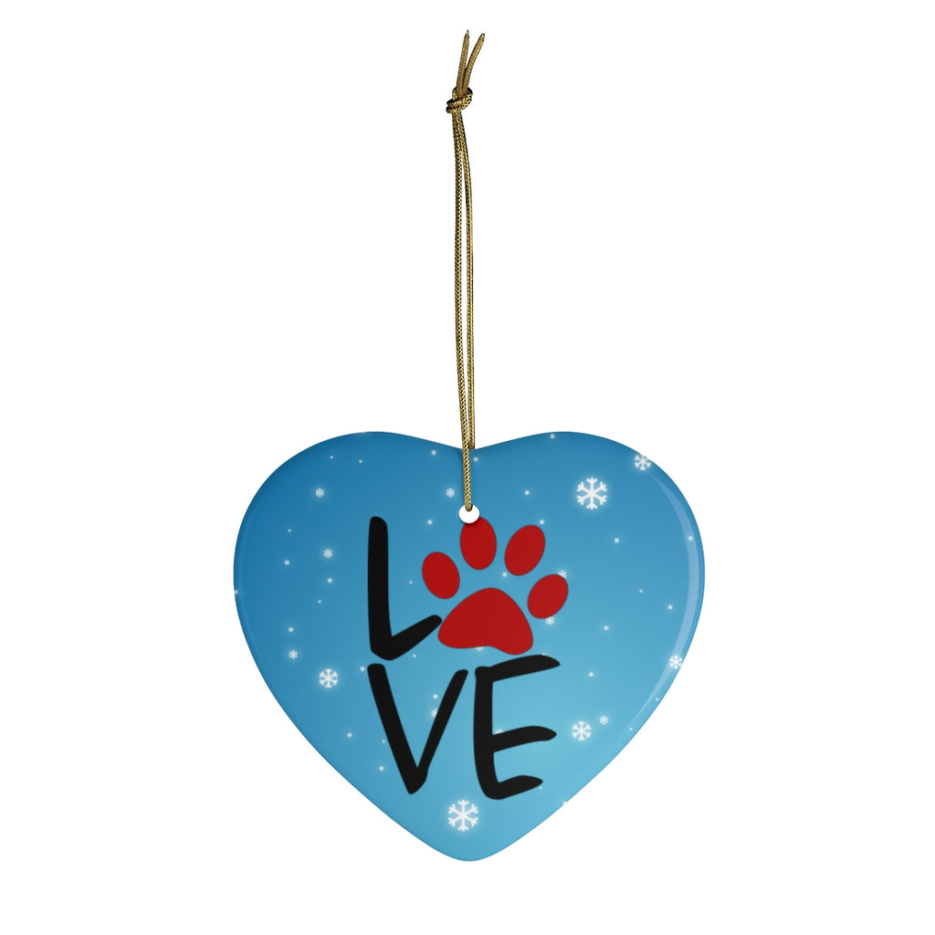 Love Paw Print Ornament