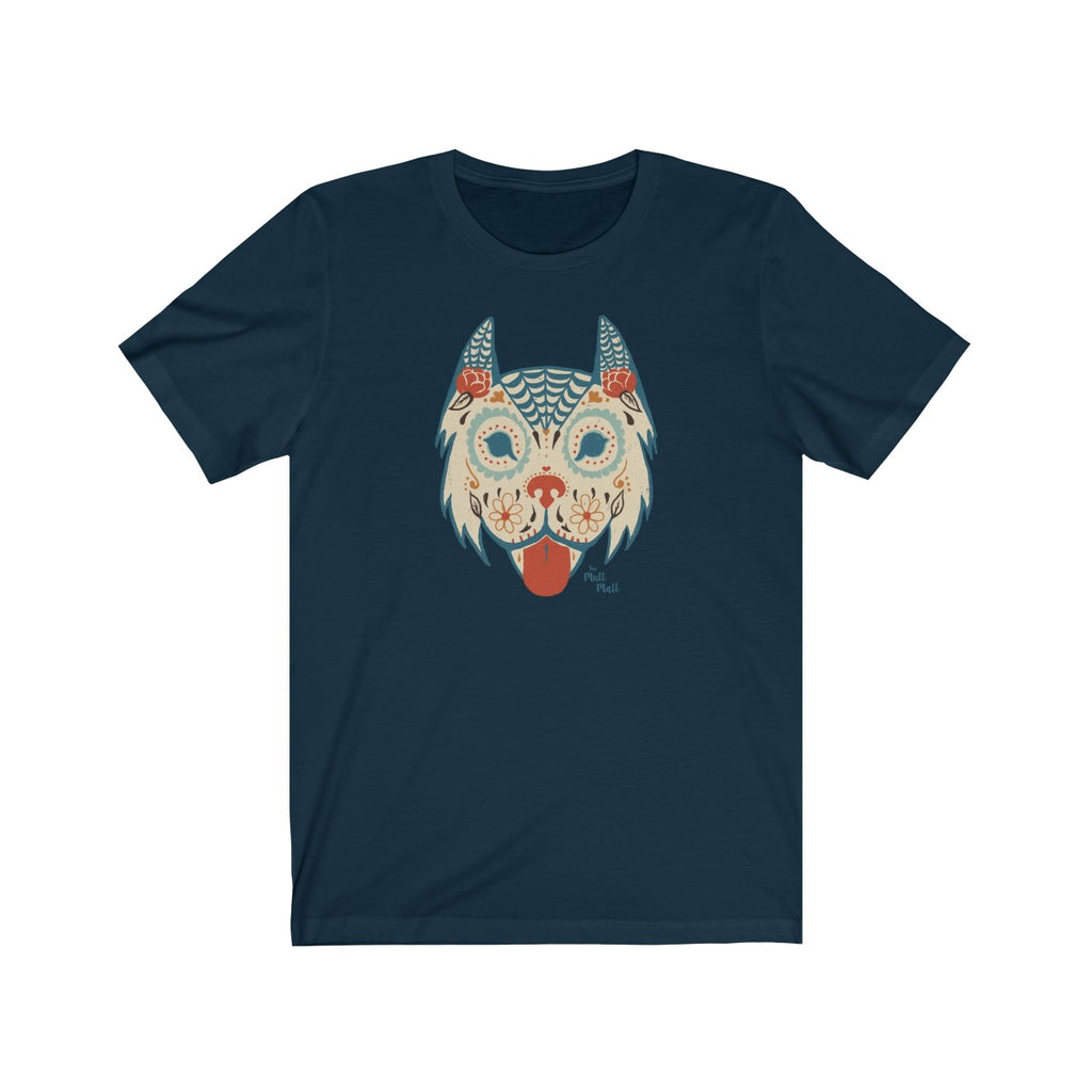Sugar Skull Dog Men's T-Shirt