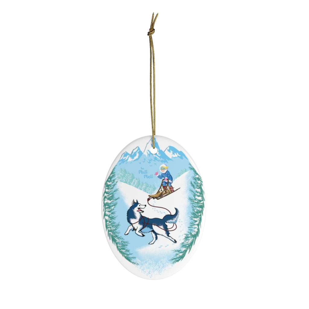 Winter Wonderland Ceramic Ornament
