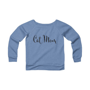 Cat Mom Women's Off The Shoulder Sweatshirt