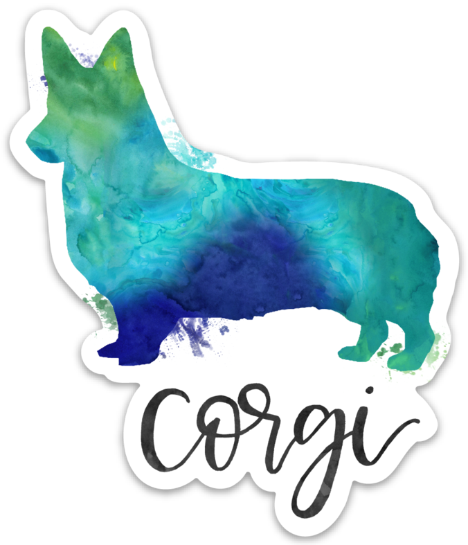 Corgi Die Cut Sticker