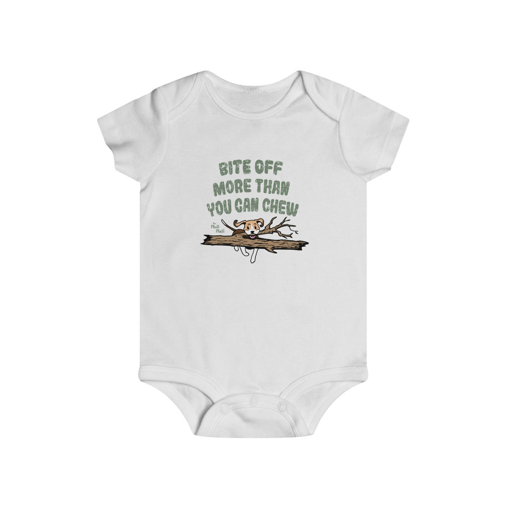 Bite Off More Than You Can Chew Baby Bodysuit
