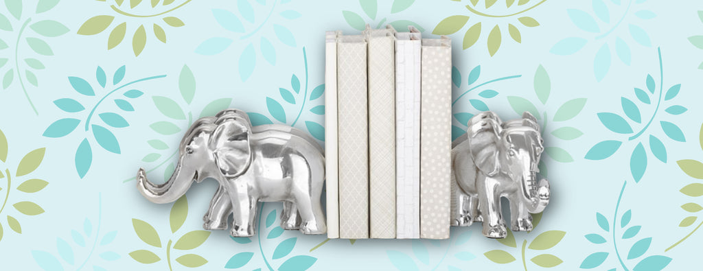 little lady agency elephant book ends