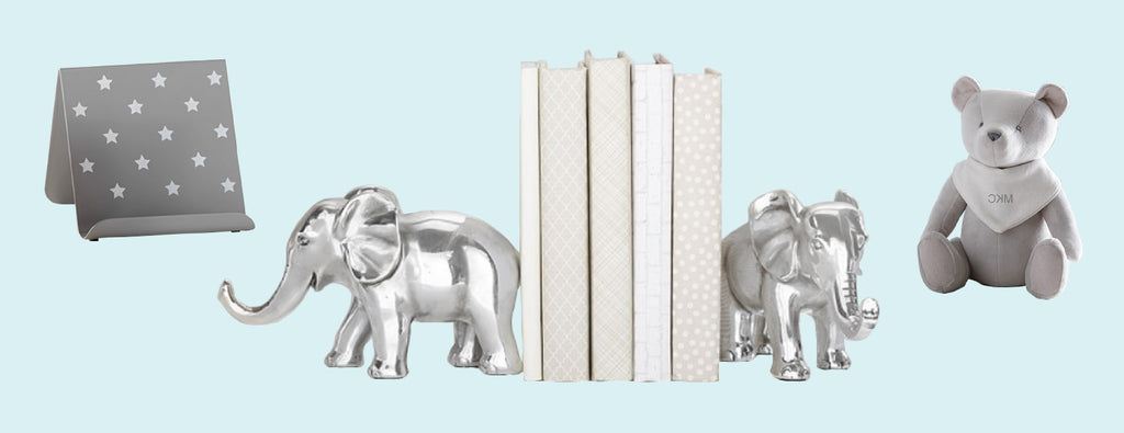 book holder book ends elephant and bear