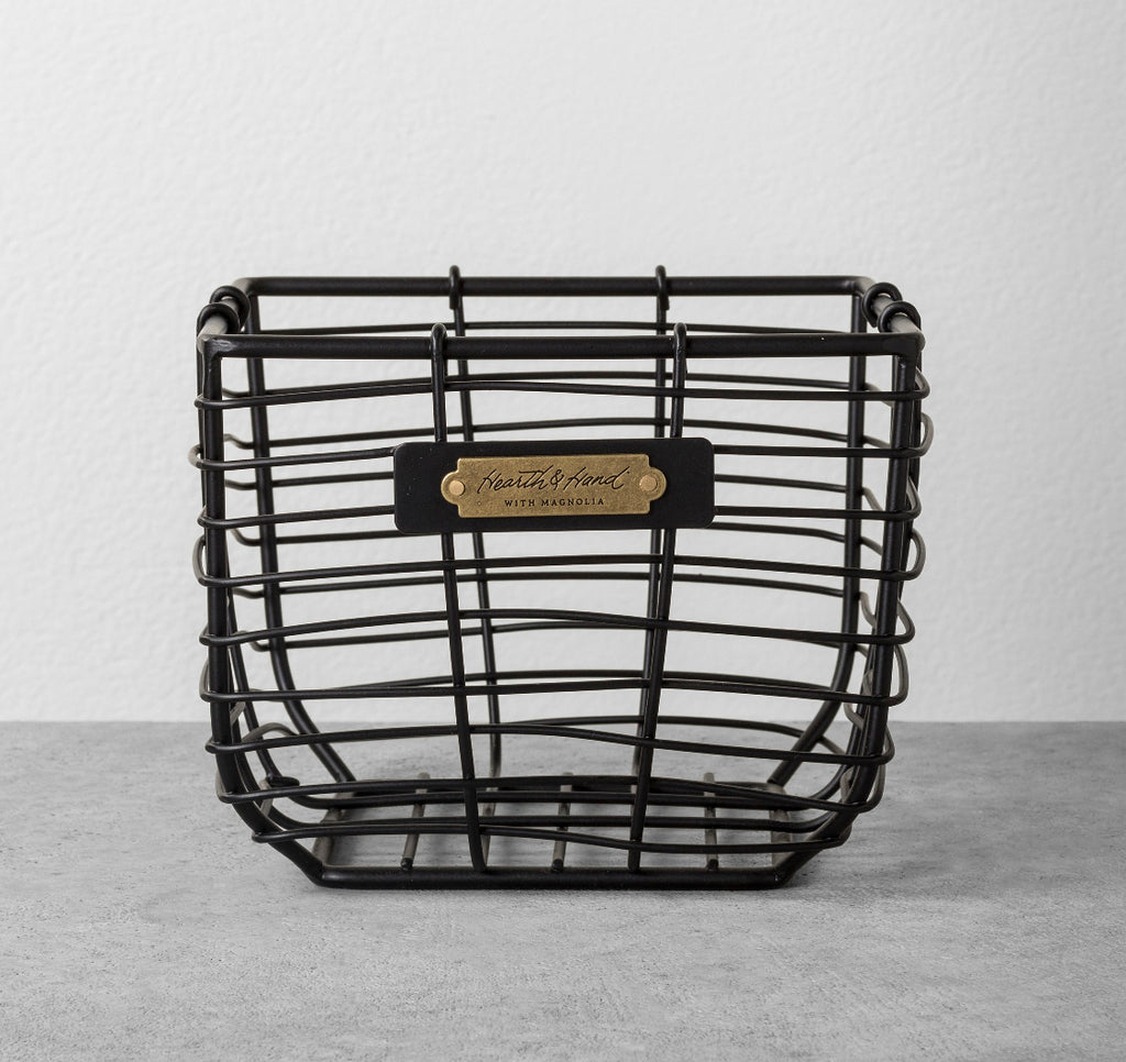 Black Wire Basket Organizers - Little Lady Agency