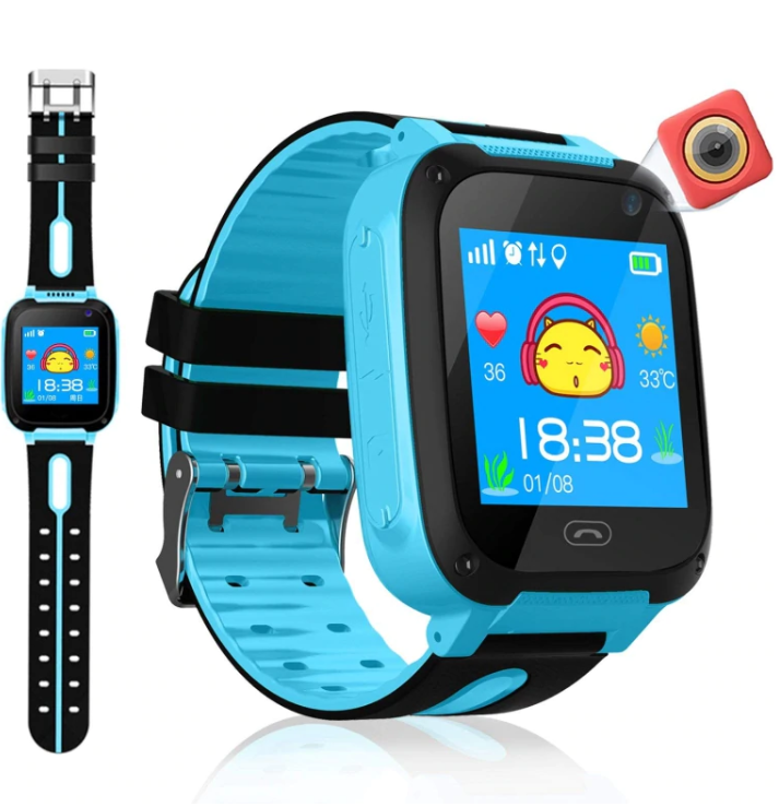 Kids Smart Watch SOS Call Camera Baby Anti-lost Phone LBS Positioning Location Children's