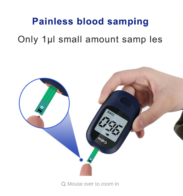 Glucose Meter with 50pcs strips and 50pcs Lancets