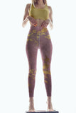 Mauve Gold Marble leggings, Capris and Shorts