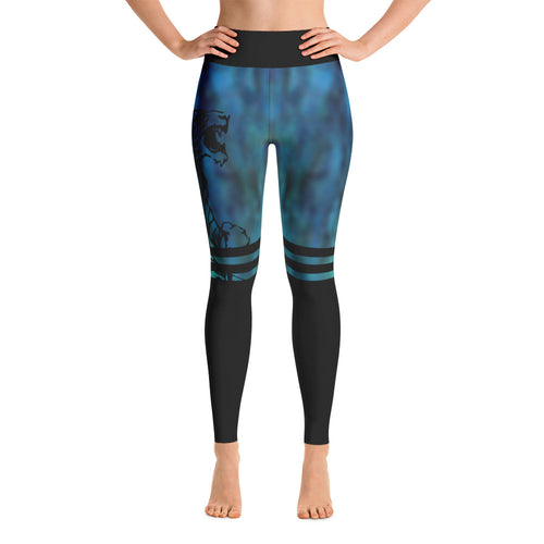 LIGHT PEACOCK TIGER LEGGINGS