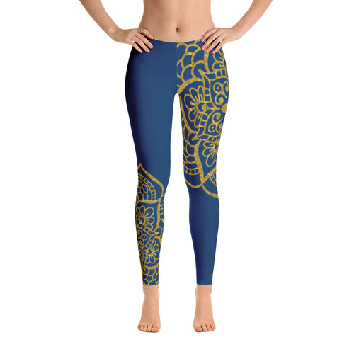 SERENE ZEPHYR ROYAL LOW WAIST LEGGINGS