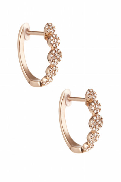 Mini Circle Pave Huggie Hoops