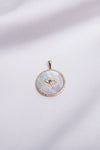 Mother of Pearl Protection Coin Charm