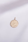 Hammered Gold Coin Charm