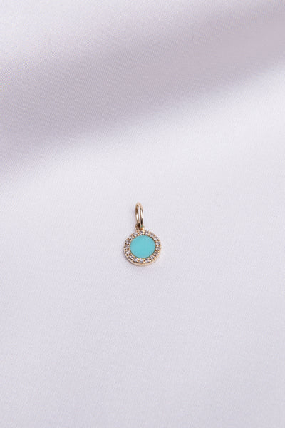 Turquoise Circle Charm