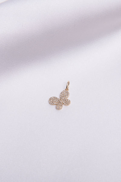 Pave Butterfly Charm