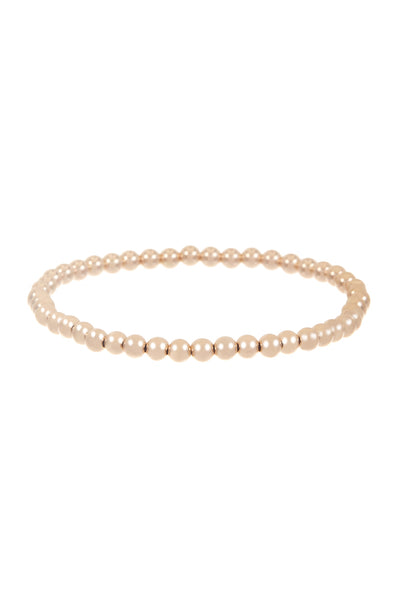 Mini 14k Gold Bead Bracelet