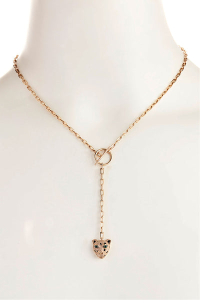 Panther Chain Link Necklace