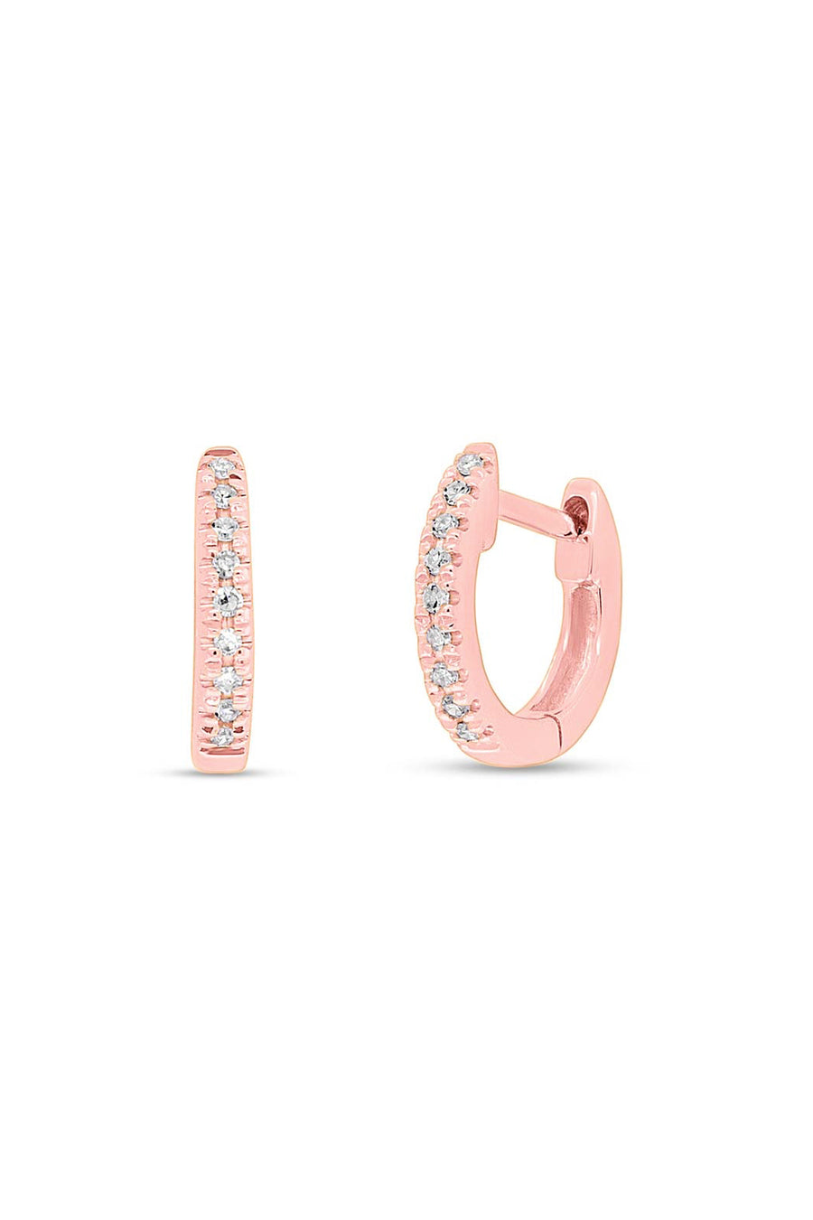 Single Mini Mini Diamond Huggie Hoop