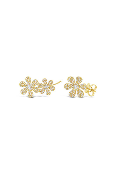 Mismatch Flower Ear Crawler and Stud
