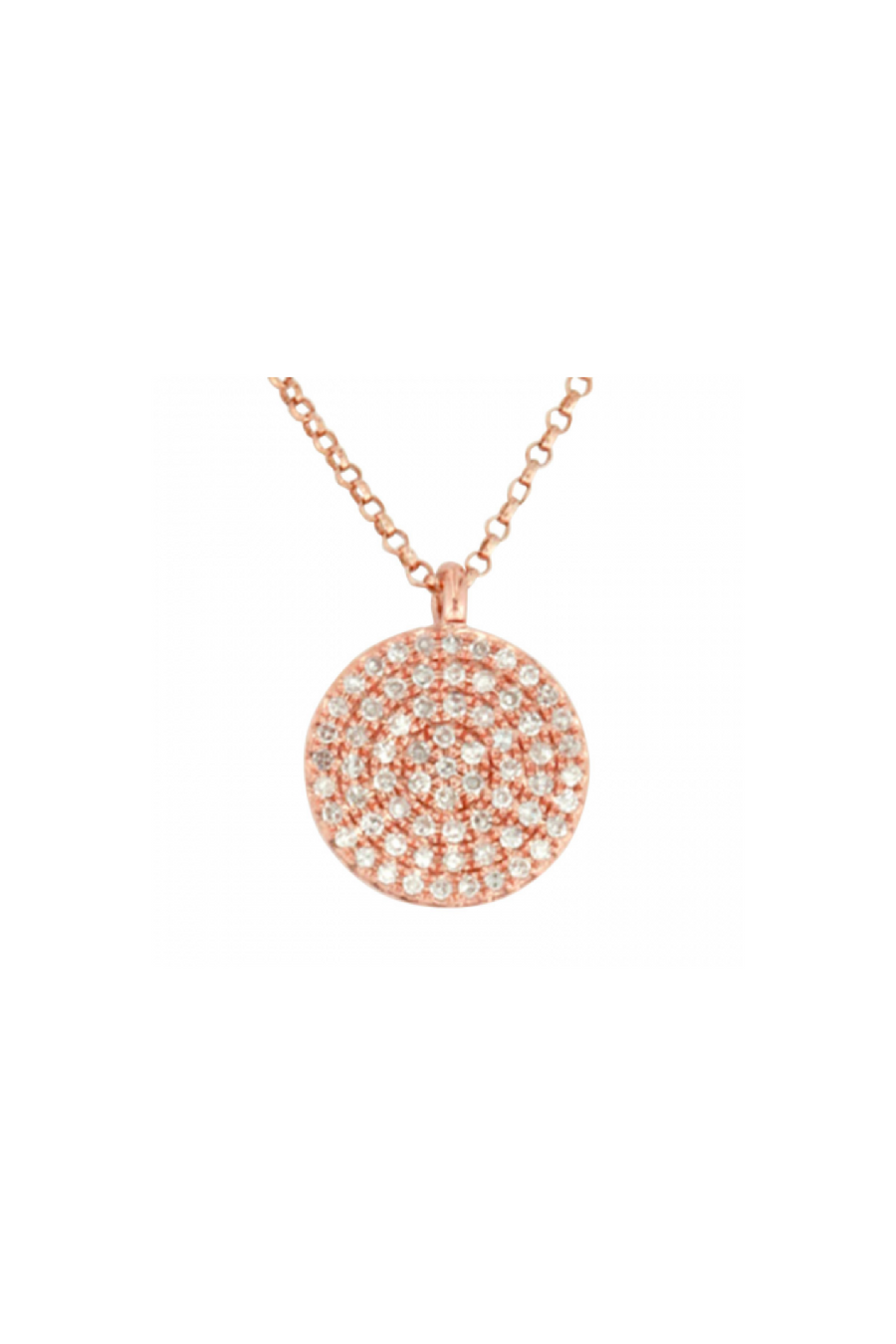 Mini Circle Pave Necklace