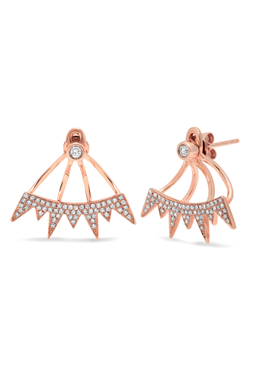 Pave Spike Ear Jacket Earrings