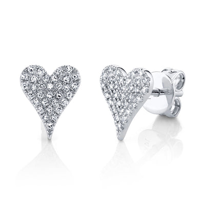 Mini Pave Heart Necklace & Mini Pave Heart Studs - Bundle