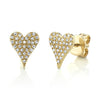 Medium Pave Heart Necklace & Mini Pave Heart Studs - Bundle